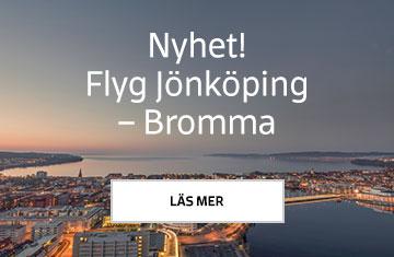 Nyhet! Flyg Bromma – Jönköping